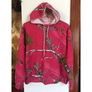 Pink camouflage hooded sweatshirt 🍂🌾🍃